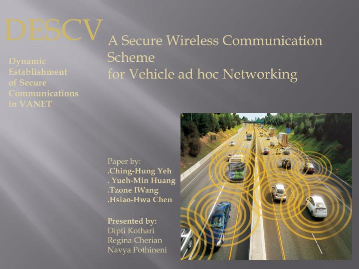 thesis on vehicular ad hoc network Road-based routing in vehicular ad hoc networks by josiane nzouonta-domgang a dissertation submitted to the faculty of new jersey institute of technology.