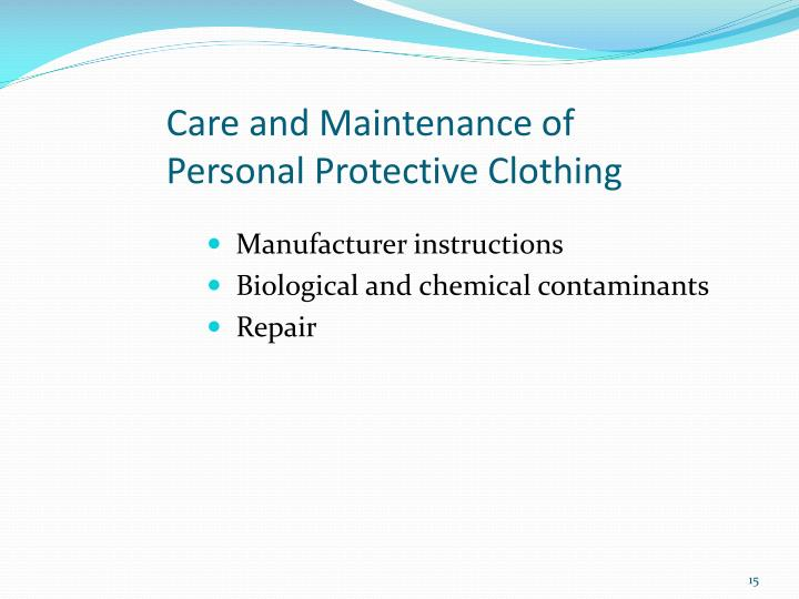 Care and Maintenance of