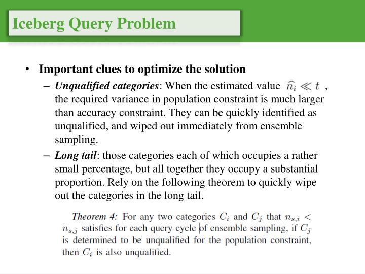 Iceberg Query Problem