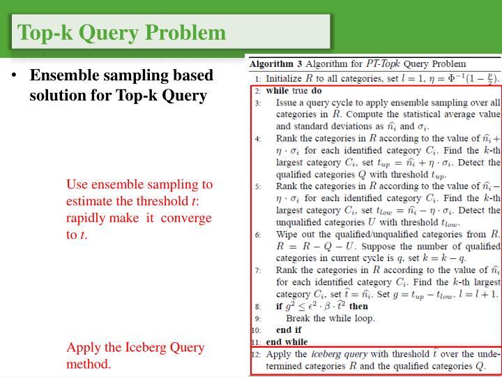 Top-k Query Problem