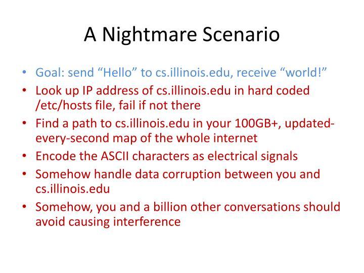 A Nightmare Scenario