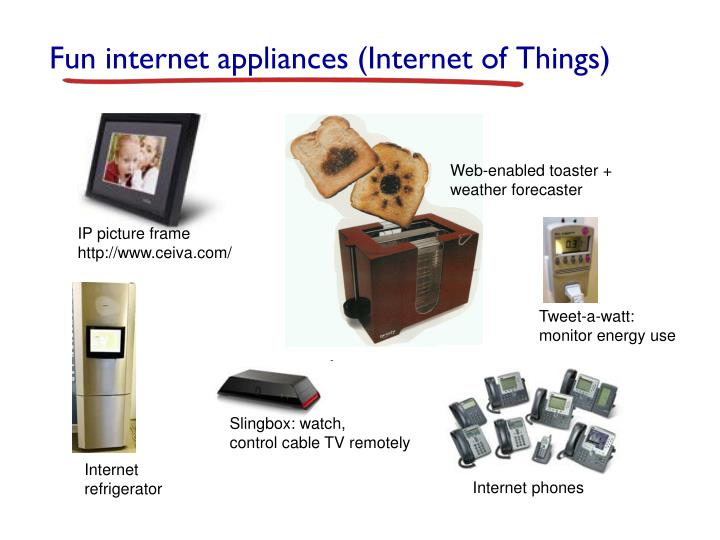 Fun internet appliances (Internet of Things)