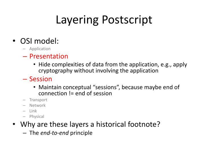 Layering Postscript