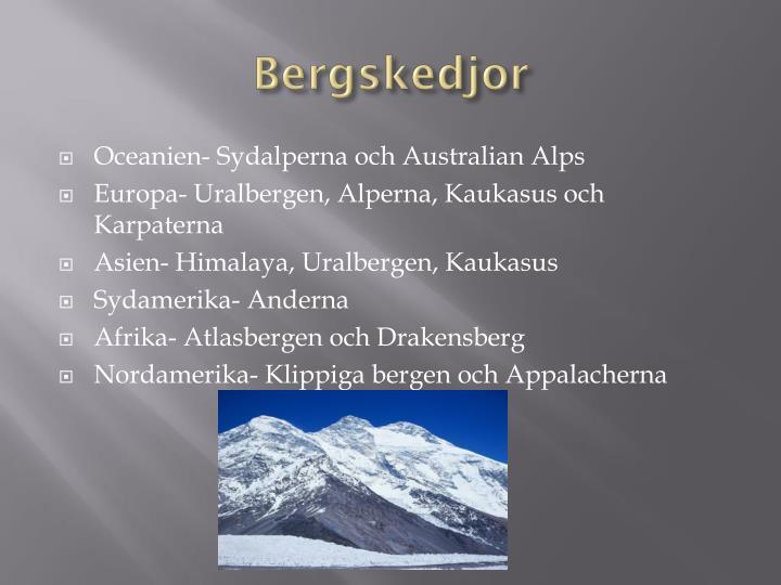 Bergskedjor