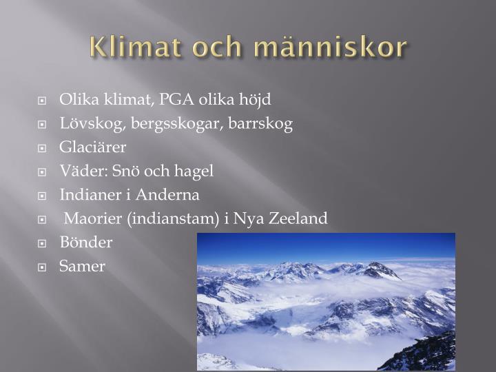 Klimat och människor