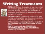 writing treatments