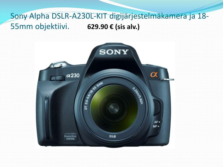 Sony Alpha DSLR-A230L-KIT