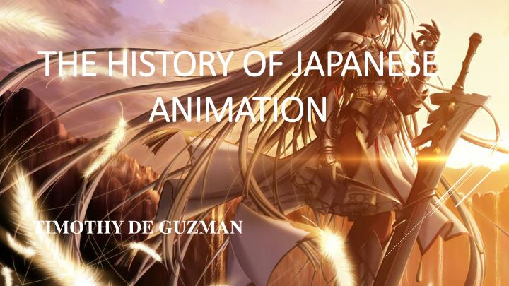 The history of japanese animation