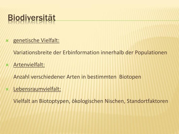 Biodiversität