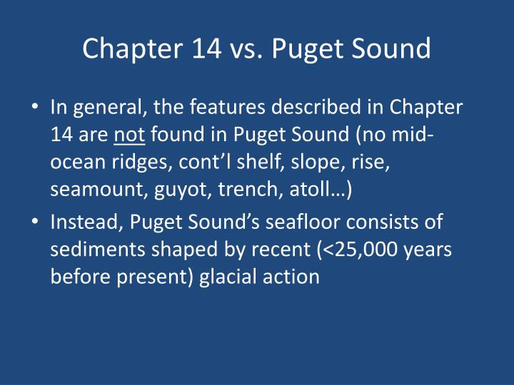 Chapter 14 vs. Puget Sound