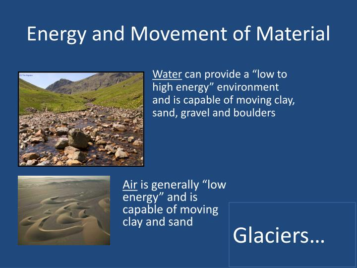 Energy and Movement of Material