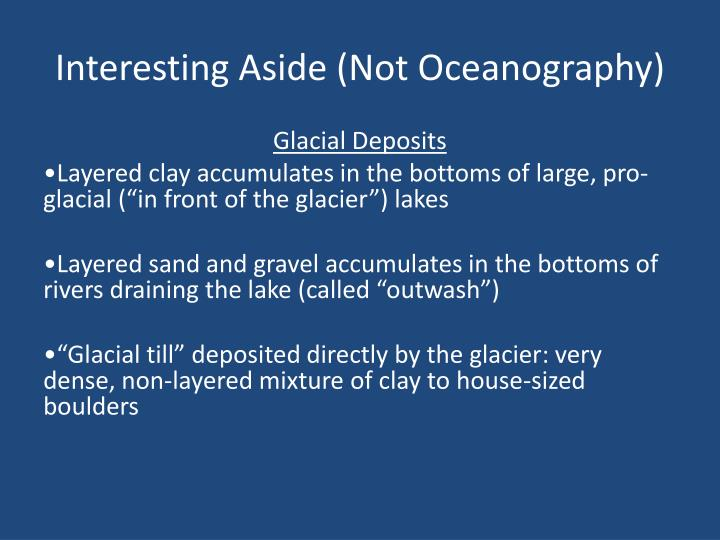 Interesting Aside (Not Oceanography)