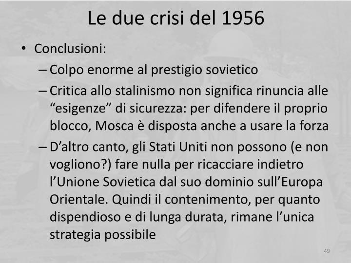 Le due crisi del 1956