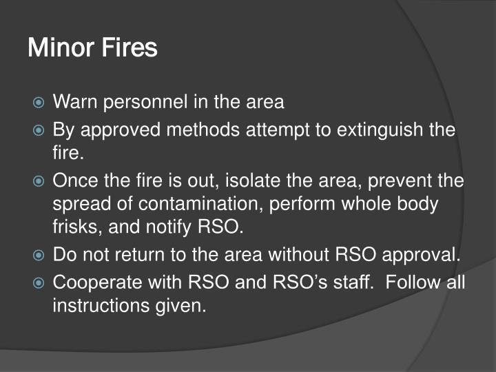 Minor Fires