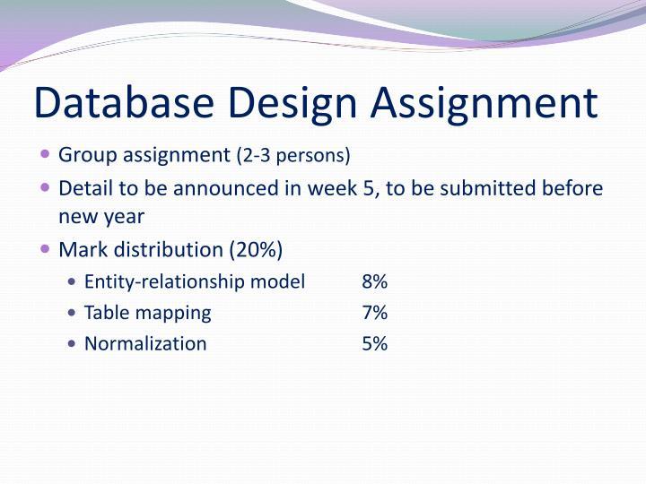 Database Design Assignment