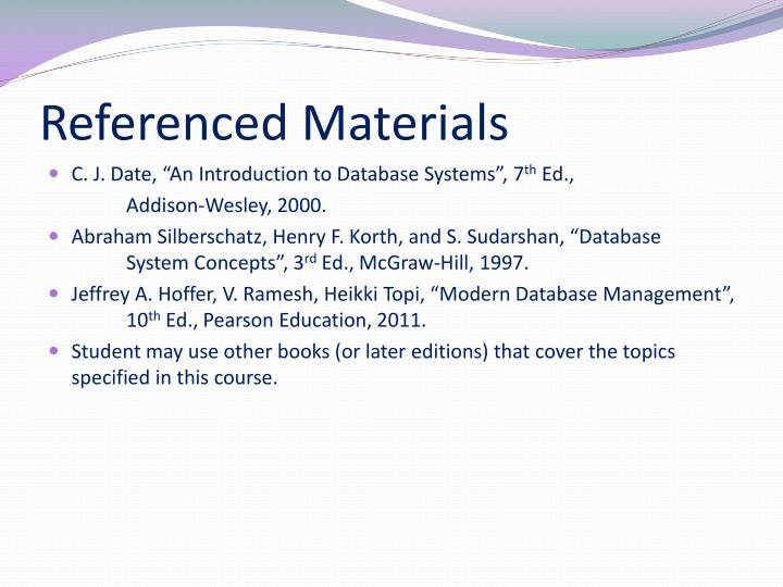 Referenced Materials