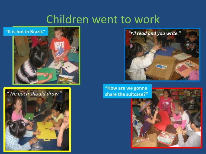 Children went to work