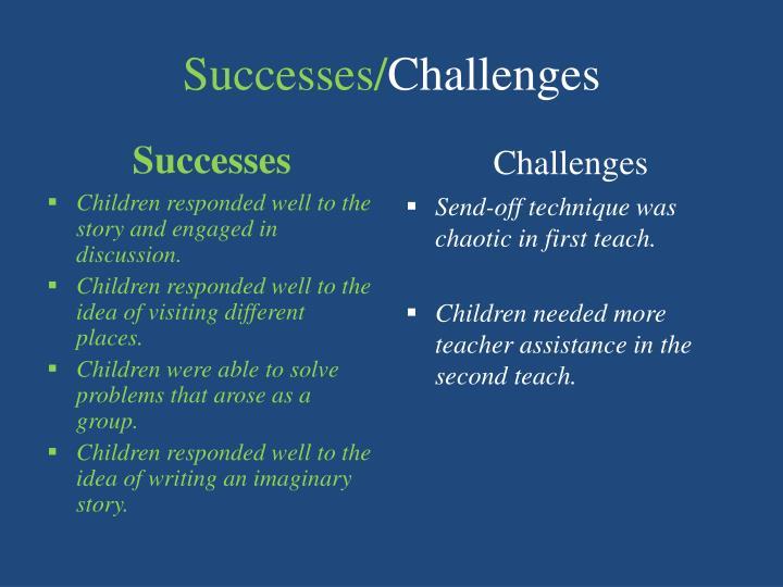 Successes/
