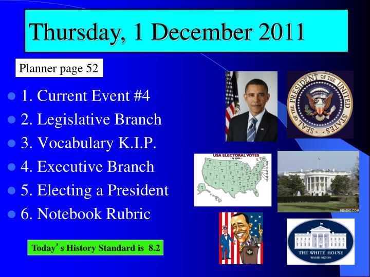 Thursday, 1 December 2011