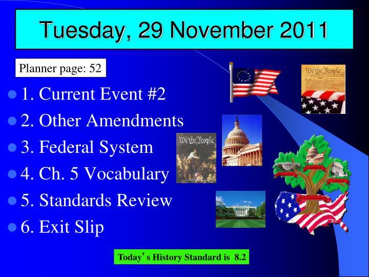 Tuesday, 29 November 2011