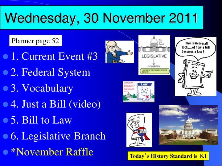 Wednesday, 30 November 2011