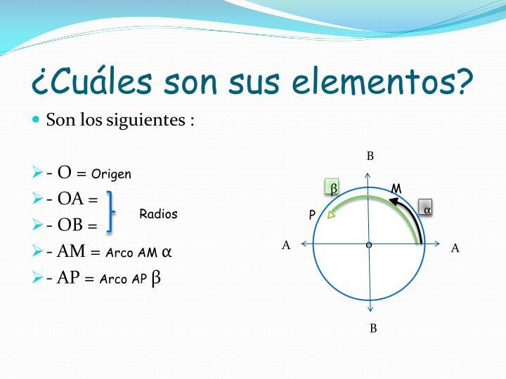 ¿Cuáles son sus elementos?