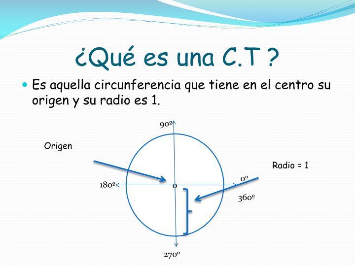 ¿Qué es una C.T ?