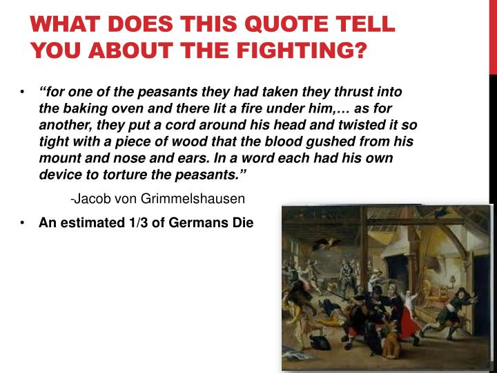 What does this quote tell you about the fighting