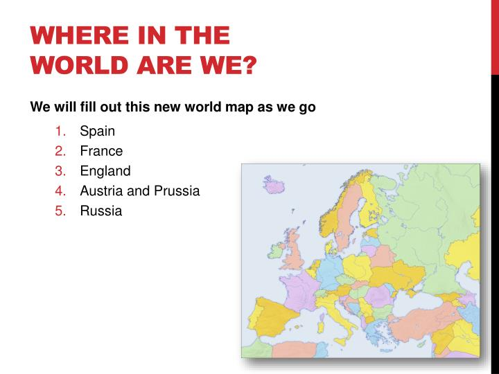 Where in the world are we?