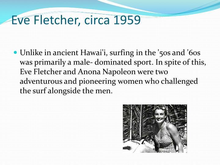Eve Fletcher, circa 1959