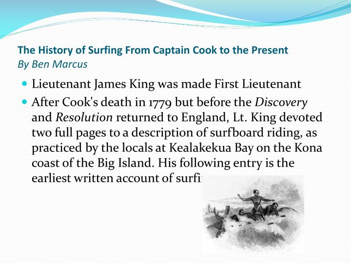 The History of Surfing From Captain Cook to the Present