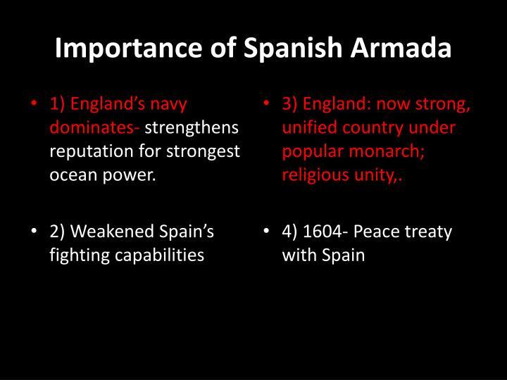 Importance of Spanish Armada