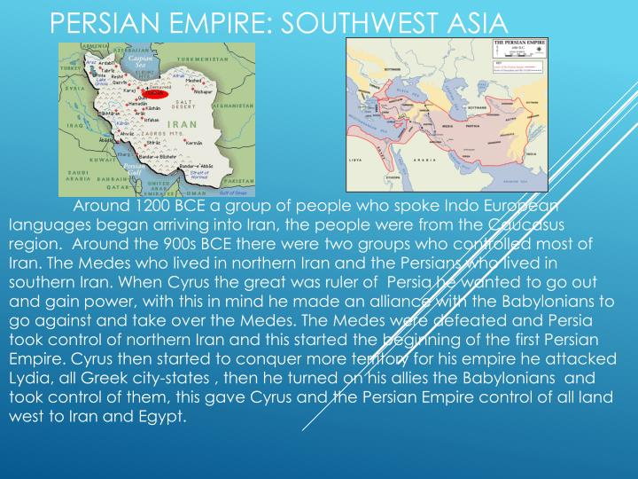 Persian empire southwest asia