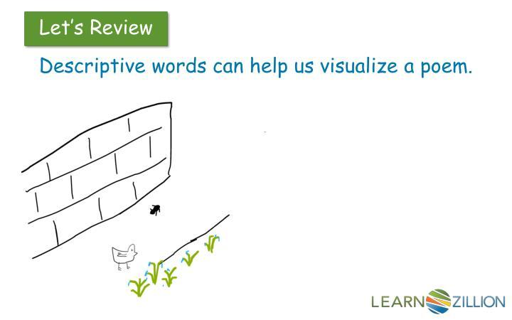 Descriptive words can help us visualize a poem.