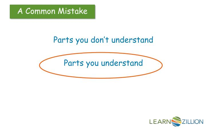 Parts you don't understand