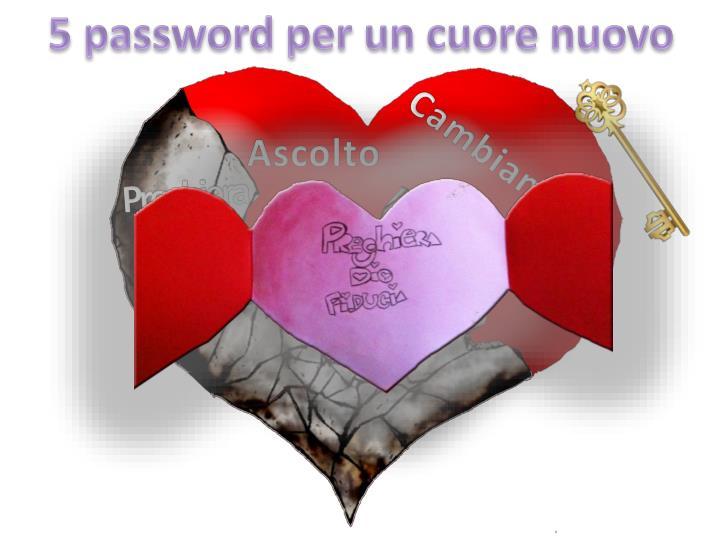 5 password per un cuore nuovo