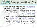 semantics and linked data
