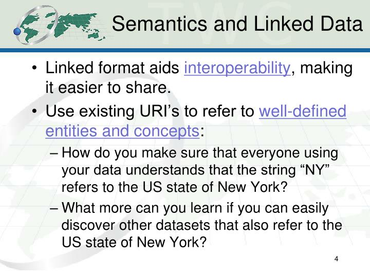 Semantics and Linked Data