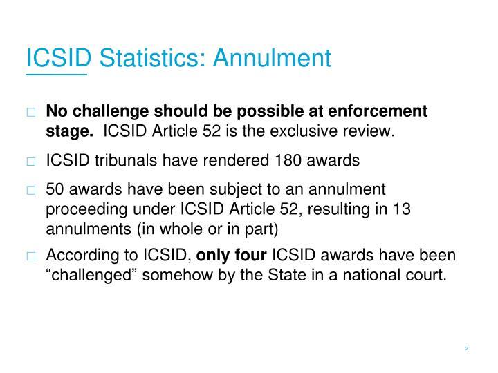 ICSID Statistics: Annulment