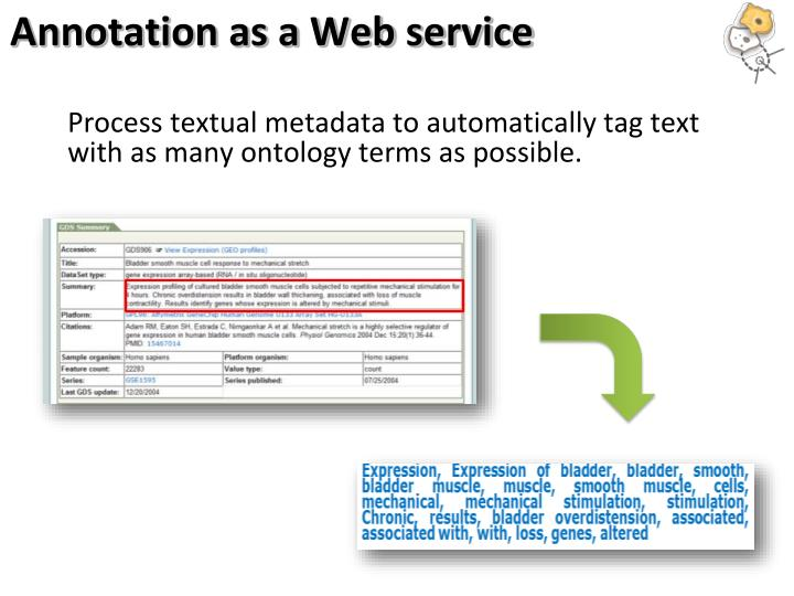 Annotation as a Web service