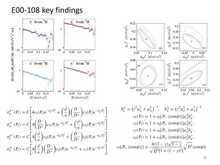 E00-108 key findings