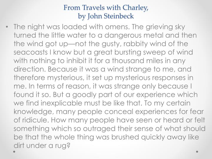 From Travels with Charley,