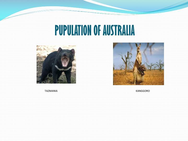 PUPULATION OF AUSTRALIA
