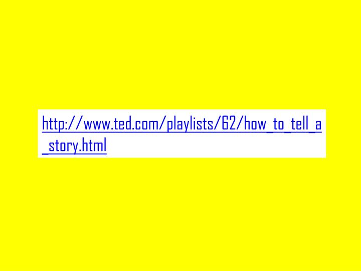 http://www.ted.com/playlists/62/how_to_tell_a_story.html