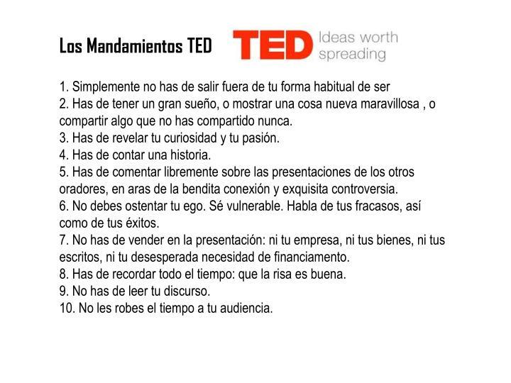 Los Mandamientos TED