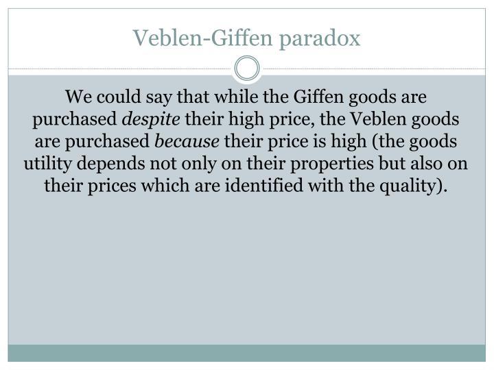 Veblen-Giffen