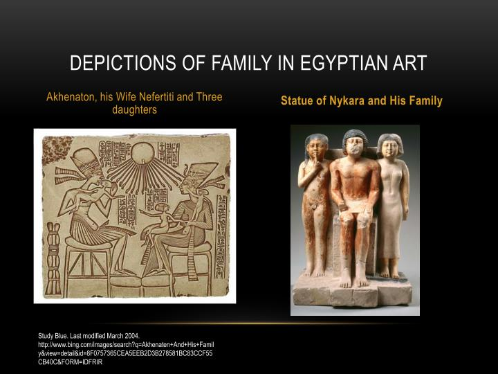 Depictions of family in egyptian art