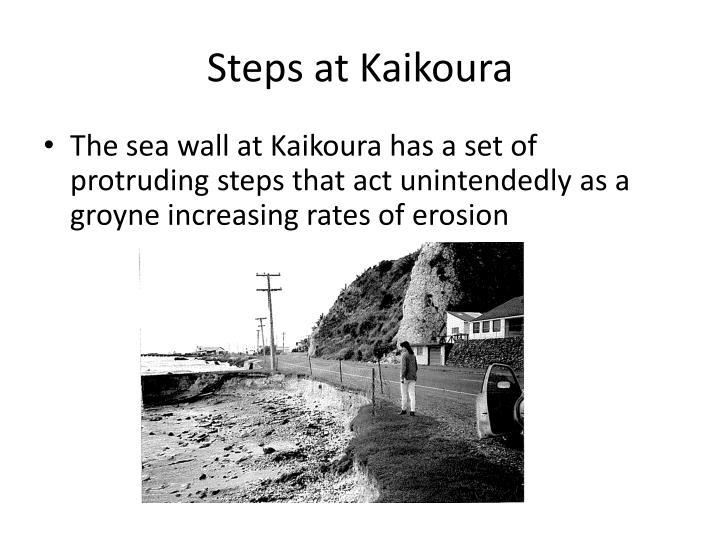 Steps at Kaikoura