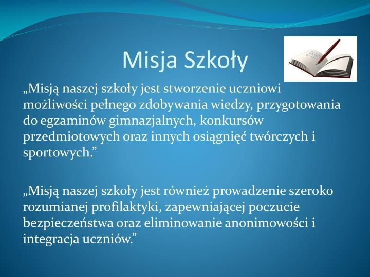 Misja Szkoły