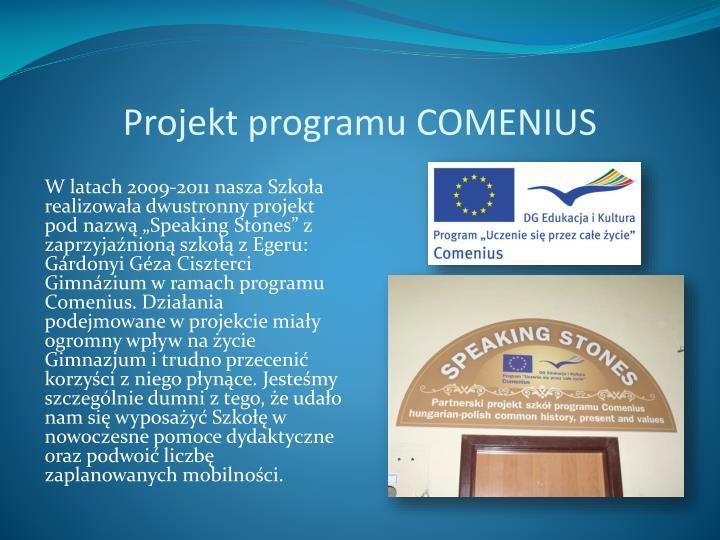 Projekt programu COMENIUS